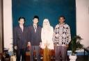 foto pendamping Alfan Alfiasih Wedding diapit paling kiri dwiki paling kanan ochen