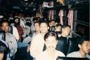 Kelelahan di dalam Bus No 2 tengah dari depan M Juliyanto Ketua Umum Badko HMI Jabagteng