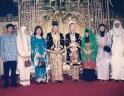 Anas Wedding dari kiri Dwiki, Mariam, Anas, Tia, Iim, Yanti Susanti dan Ita Konita
