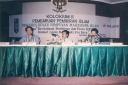 Kolokium Pembaharuan Pemikiran Islam dari kiri Hajriyanto Thohari, Michel El Qudsi dan Anas