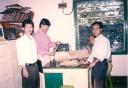 Di lantai II PB HMI dari kiri Syarifuddin, Ikhwan Mustafa, Suratman dan Zainul Adi
