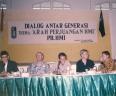 Diskusi di GIC Depok dari kiri Alm Buya Ismail Hasan Metarium, Alm Pakde Dahlan Ranuwihardjo, Alm Ekky Syahruddin dan Anas