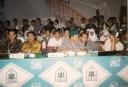 Kongres HMI Jambi depan dari kiri Zulkifli, Bahruddin Dahlan, Abdullah Hafidz, Saan Mustafa dan Nur Iswan