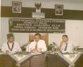 Studi Nasional Mahasiswa Indonesia dari kiri Michel El Qudsi, Adi Sasono dan Ryaas Rasyid