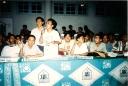 Kongres HMI Jambi pegang mic Muhtaddin Ketum HMI Cabang Ciputat