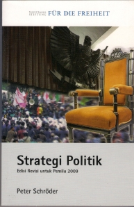 Cover Buku Strategi Politik by Peter Schroder