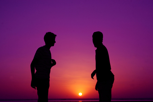 Friends Silhouette by Al Zanki credit foto: www.flickr.com