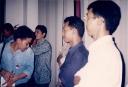 dari kiri ke kanan Asep Supriyatna, Nuril Huda dan Burhanuddin
