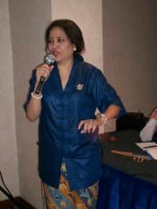 Bintang Temu Blogger Kompasiana Bude Linda Djalil (dwiki dok files)