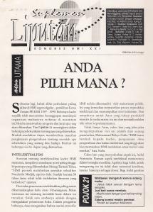 Cover Jurnal Liputan 21 Kongres HMI Yogyakarta 1997 (dwiki dok files)