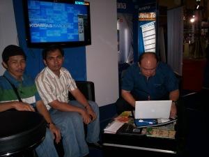 dari kiri ke kanan Dwiki Setiyawan, Agus Hamonangan, Edy Taslim (dwiki dok files)
