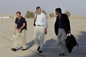 dari kiri Ben Rhodes, Denis McDonough dan Jim Steinberg (www.daylife.com)