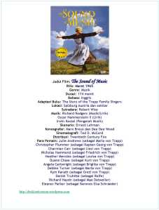 Hal Ihwal Film Musikal The Sound of Music