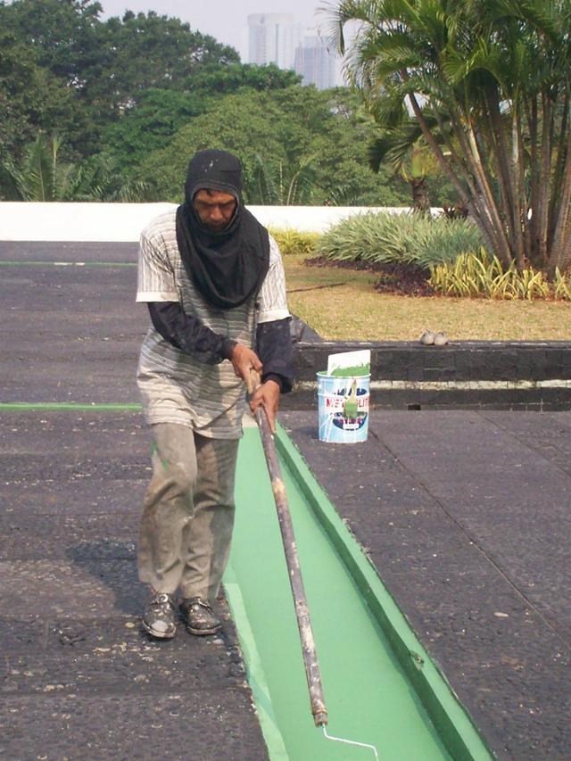 Pengecatan Samping Gedung Utama Nusantara (dwiki dok)