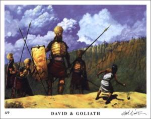 Pertempuran David dan Goliath (http://www.christcenteredmall.com)