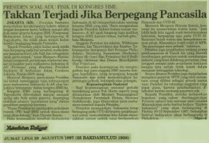 Presiden RI Komentari Kongres HMI (dwiki dok)