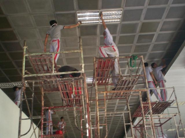 Renovasi Plafon di Nusantara II (dwiki dok)