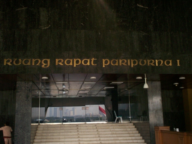 Ruang Rapat Paripurna I (dwiki dok)