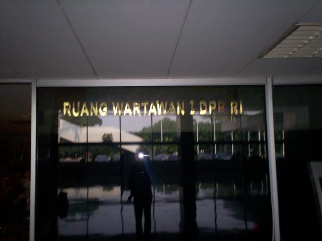 Ruang Wartawan I DPR-RI di Nusantara III (dwiki dok)