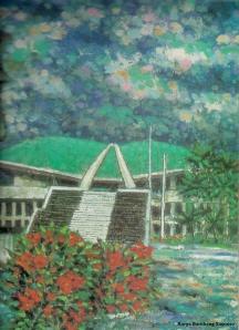 Lukisan Gedung MPR-DPR Karya Bambang Sasmito