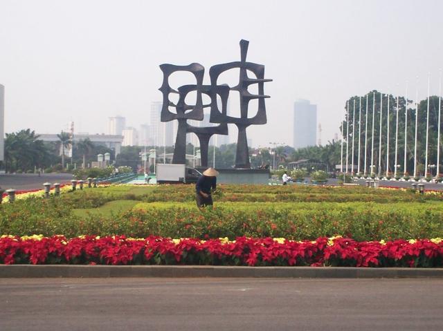 Taman Bunga Depan Gedung Nusantara (dwiki dok)