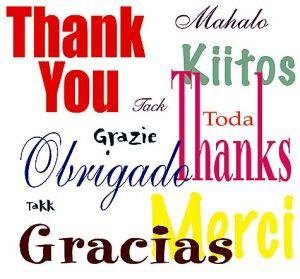 Terima Kasih Berbagai Bahasa ( http://i.ehow.com )