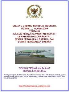 Cover UU MPR, DPR, DPD dan DPRD Hasil Rapur DPR