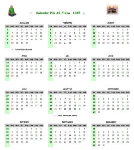 Kalender PakARFisika 1945
