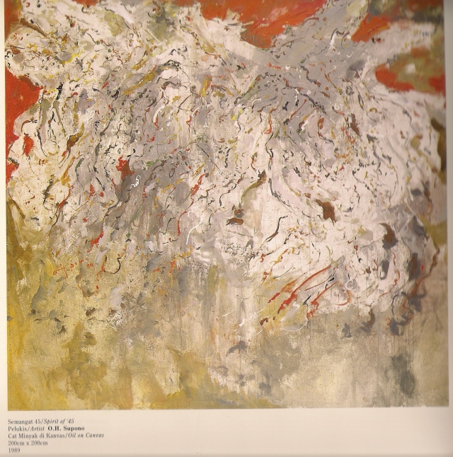 Repro Lukisan Semangat 45 Karya O.H Supono