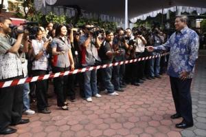SBY di Puri Cikeas Santai Bersama Wartawan (http://www.presidenri.go.id)