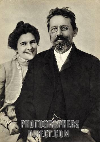 Anton Chekhov dan istri Olga L Knipper Chekhova (http://www.photographersdirect.com)