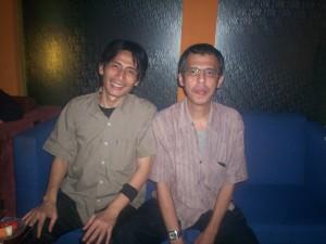 Diskusi Kahmi Pro Network dari kiri Adam Rahmawan dan Hamid Basyaib (dwiki file)