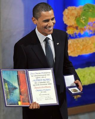 Barack Obama dan Hadiah Nobel Perdamaian Tahun 2009 (AFP)