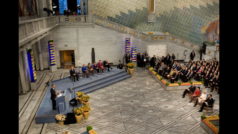 Pidato Barack Obama di Oslo (official white house photo by pete souza)