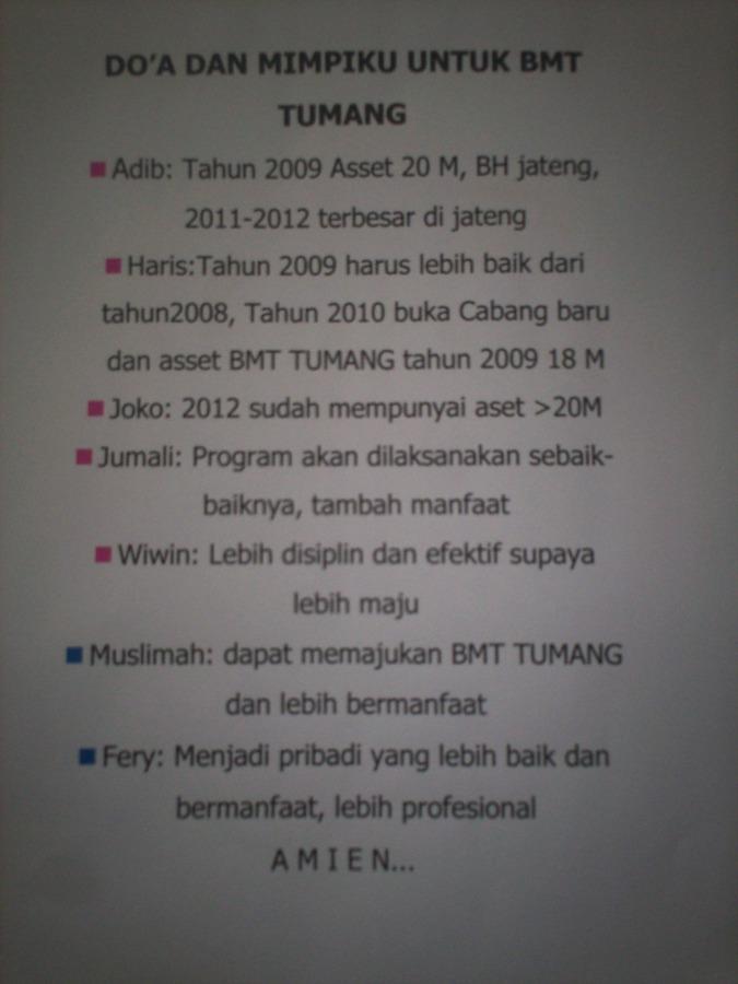 Doa dan Mimpi BMT Tumang (dwiki file)