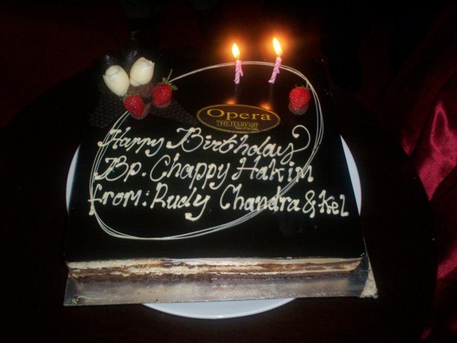 Kue Ultah ke-62 Chappy Hakim (dwiki file)