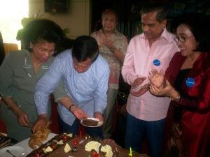 Ultah Bersama- dari kiri Linda Agum Gumelar, Agum Gumelar, Chappy Hakim dan Pusparani Chappy Hakim (dwiki file)