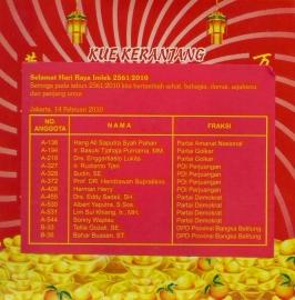 Kue Keranjang Imlek 2010 Politisi Senayan