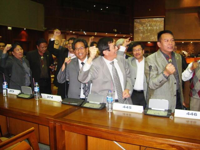 Fraksi PDI Perjuangan DPR-RI Jelang Rapat Paripurna 3 Maret 2010 02 (Dwikis Dok)