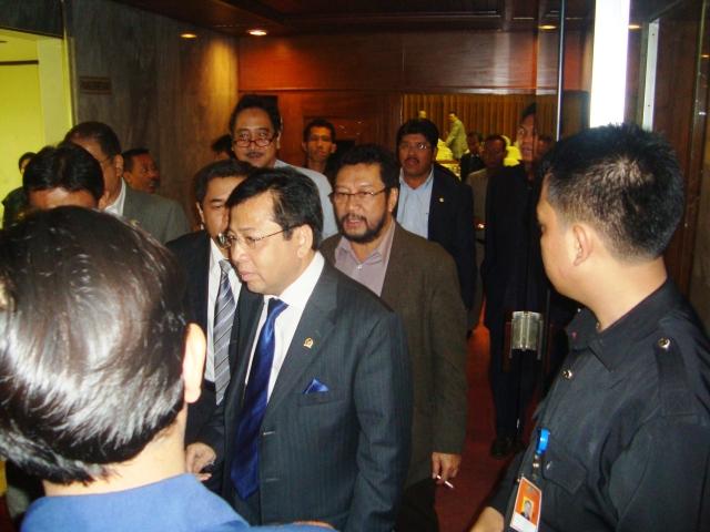 FPG DPR-RI Jelang Rapat Paripurna 3 Maret 2010 03 tampak gambar Setya Novanto (Dwikis Dok)