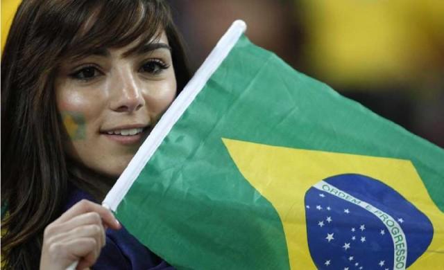 Suporter Cantik Sepak Bola Brazil