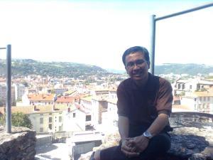 Rakhmat Hidayat di kota Lyon Perancis
