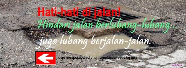 Foto Sampul Kronologi Facebook Lucu Keren Jalan Berlubang Lubang Berjalan