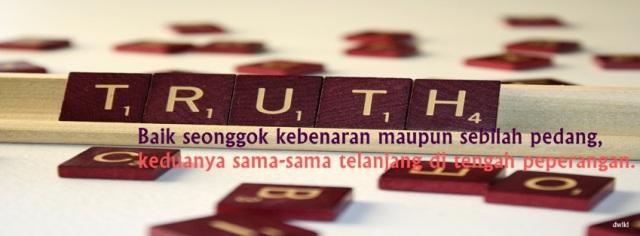 Foto Sampul Kronologi Facebook Kebenaran Sebilah Pedang