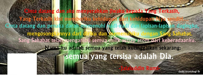Gambar Cover Sampul Facebook Timeline Cinta Datang Jalaluddin Rumi