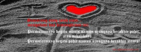 Foto Sampul Kronologi Facebook Keren Cinta Manis dan Pahit