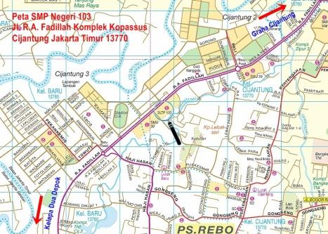Peta SMP Negeri 103 Jakarta