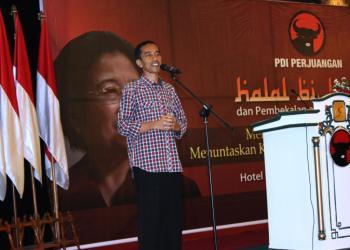 Sambutan Jokowi Halalbihalal PDI Perjuangan (Foto: Dwikis)