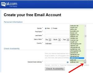 alamat-email-cantik-mail-dot-com Com