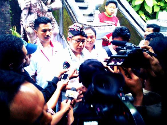 Anas Urbaningrum di Acara Deklarasi Perhimpunan Pergerakan Indonesia Provinsi Bali